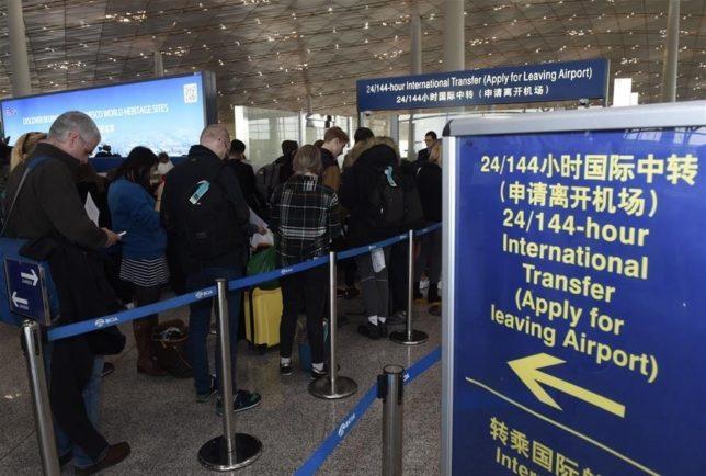 visto de trânsito para China