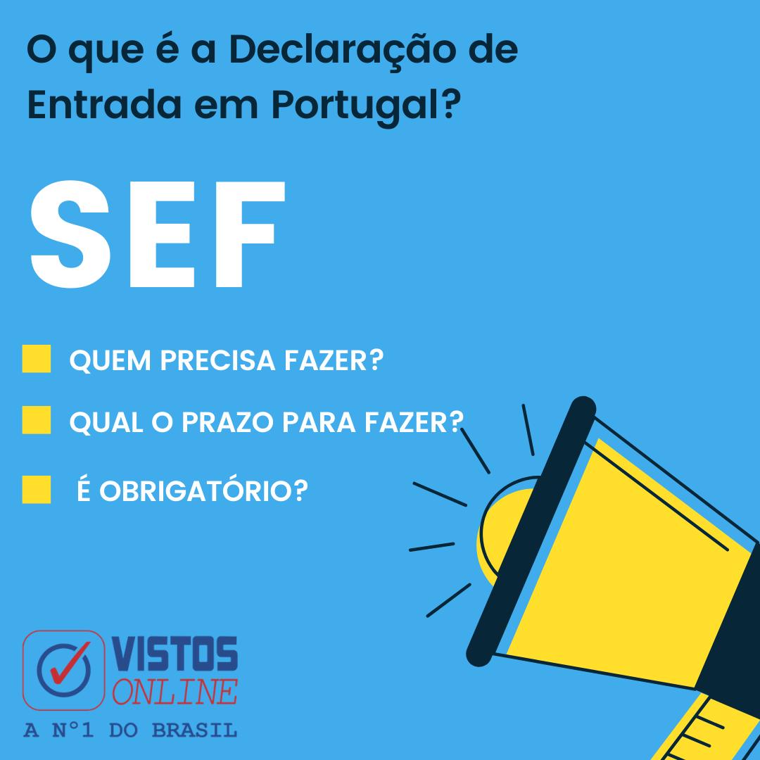 SEF - Autorização de entrada para Portugal